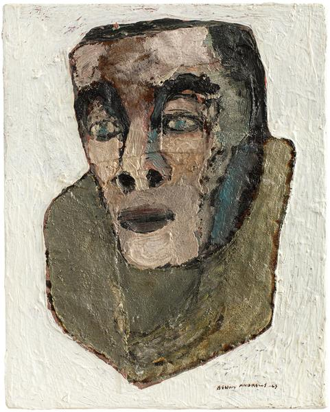 Actor, 1963 oil on canvas with painted fabric coll...