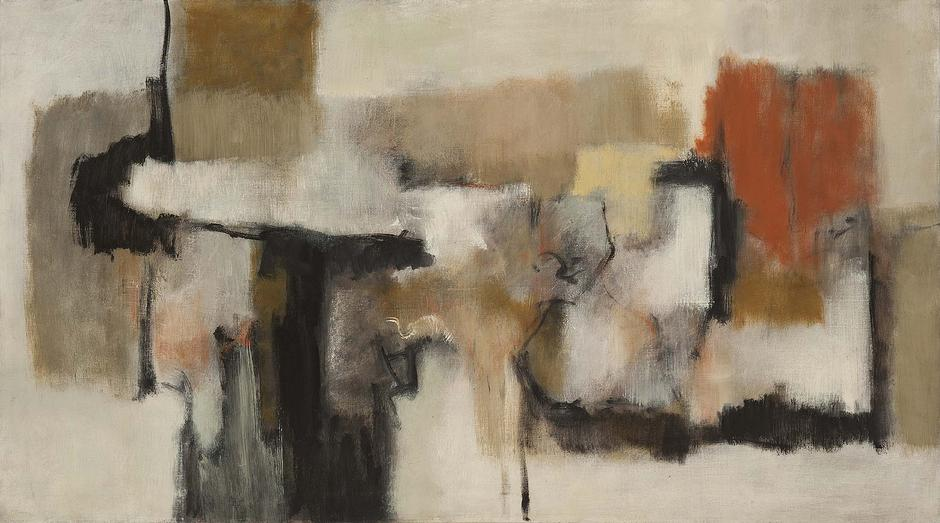 Untitled, c.1959 oil on canvas 27 3/4 x 50 inches...