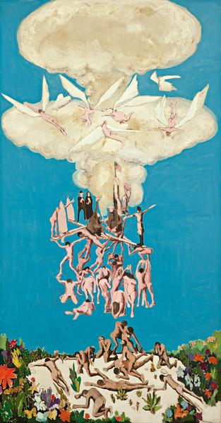Benny Andrews (1930-2006) Many Sins, 1964 oil on c...
