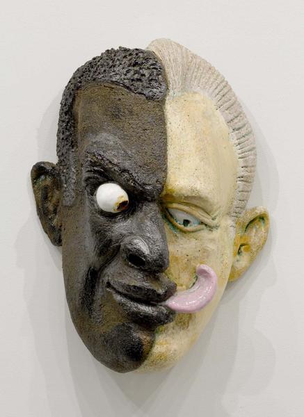 "Split Lick, 1991 glazed ceramic 16"" x 11""..."