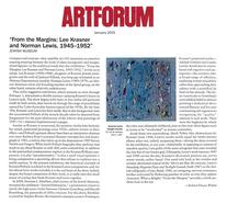 ArtForum, January 2015