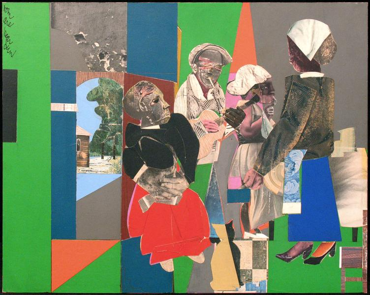 Romare Bearden (1911–1988) Untitled (Men Wit...
