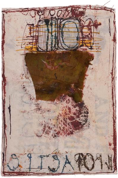Untitled (C23180), 1983 mixed media collage with f...