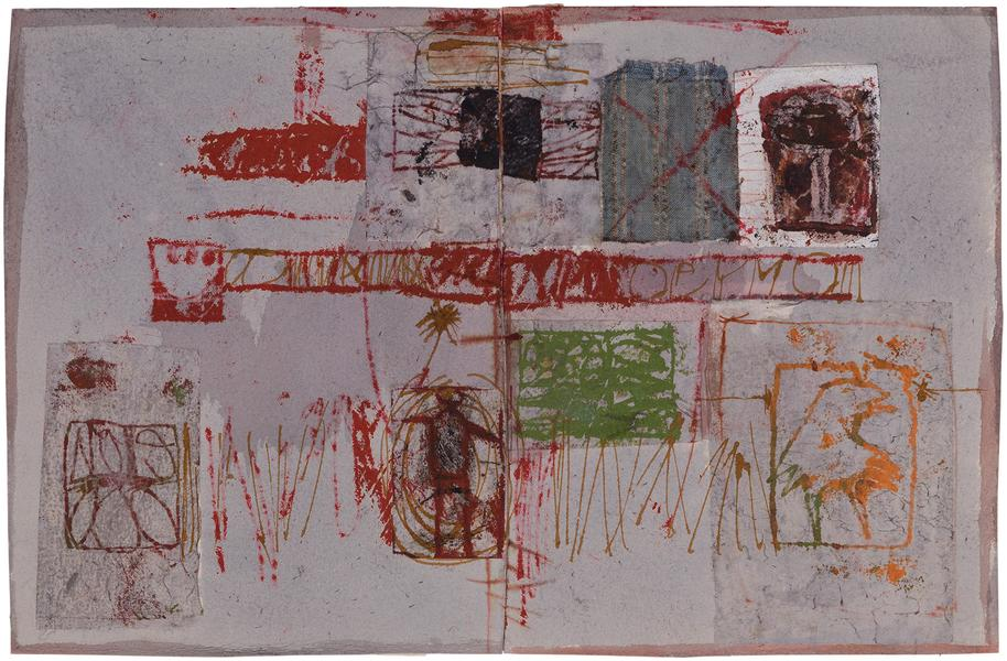 Untitled (C82197), 1982 mixed media collage with f...