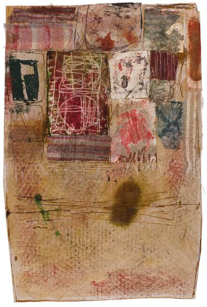 Untitled (C82243), 1982 mixed media collage with f...