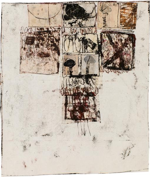 Untitled (C82344), 1982 mixed media collage with p...