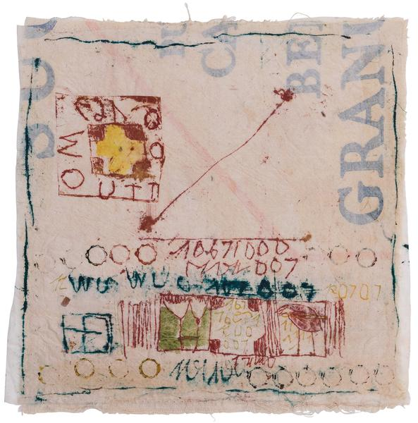 Untitled (C83047), 1983 mixed media collage with f...
