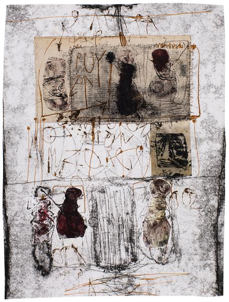 Untitled (C83261), 1983 mixed media collage with p...