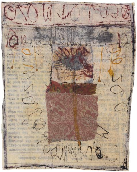 Untitled (C83285), 1983 mixed media collage with f...