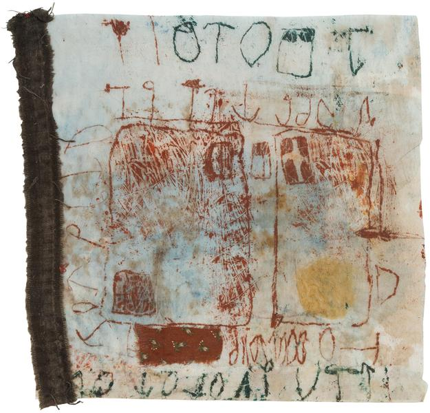 Untitled (C86075), 1986 mixed media collage with f...