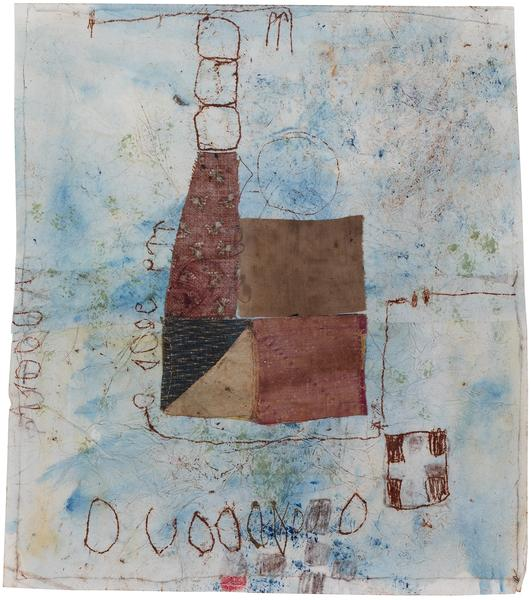Untitled (C86106), 1986 mixed media collage with f...