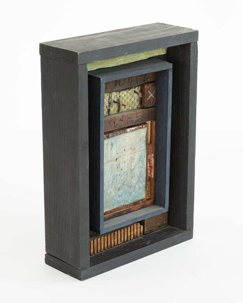 Untitled, 1981 box assemblage of painted wood, nai...