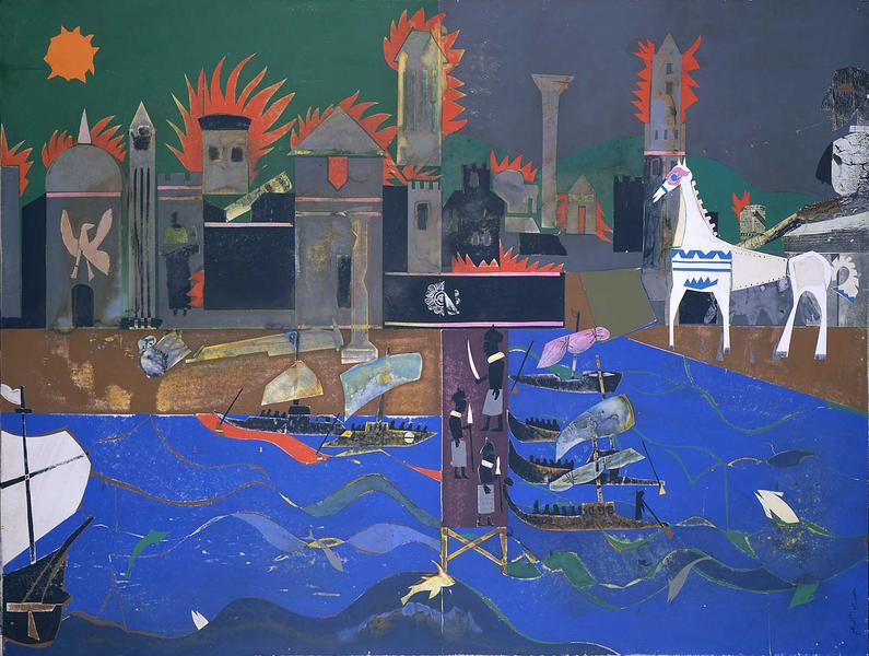 Romare Bearden (1911–1988) The Fall of Troy,...