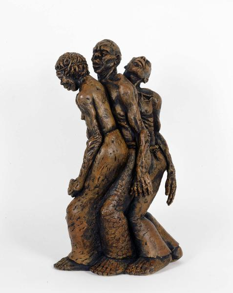 "Freedom March, 1952 terracotta 20 1/2"" x 7 1/..."