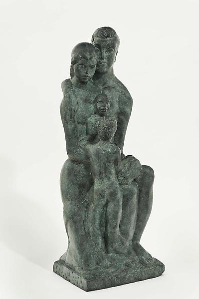 Family, c.1950 bronze 42 3/8 x 14 x 15 1/4 inches,...