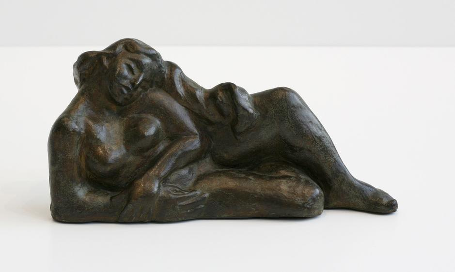 "Untitled, 1950 painted plaster 6 1/2"" x 13&qu..."
