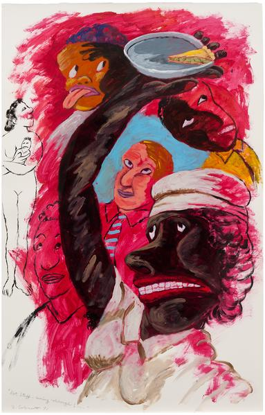 Robert Colescott (1925-2009) Hot Stuff-Coming Thro...