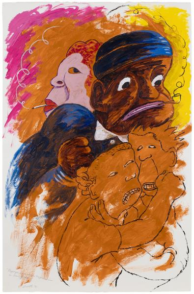 Robert Colescott (1925-2009) Popeye and Other Negr...