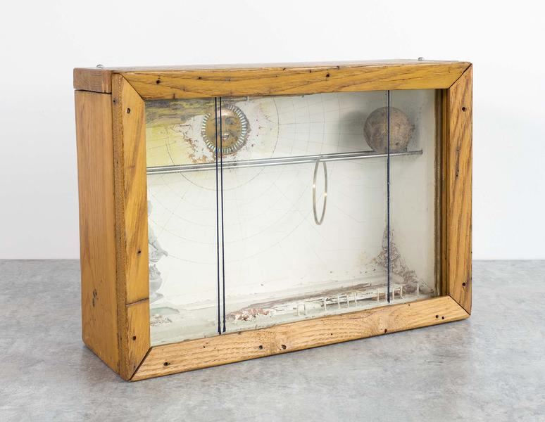Untitled (Sun Box), c.1958 wood and glass box cons...