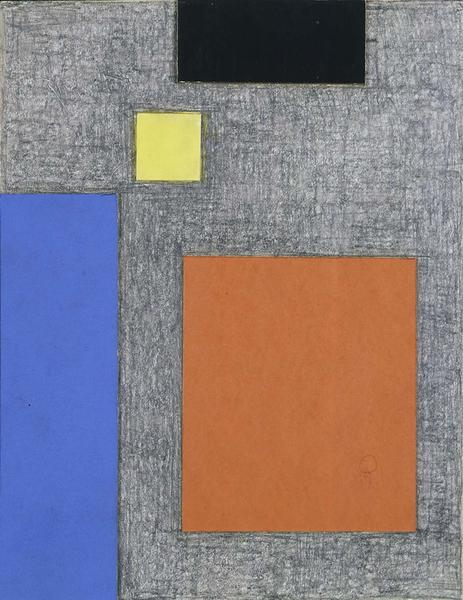 Second Theme, c.1961-62 graphite, colored pencil,...