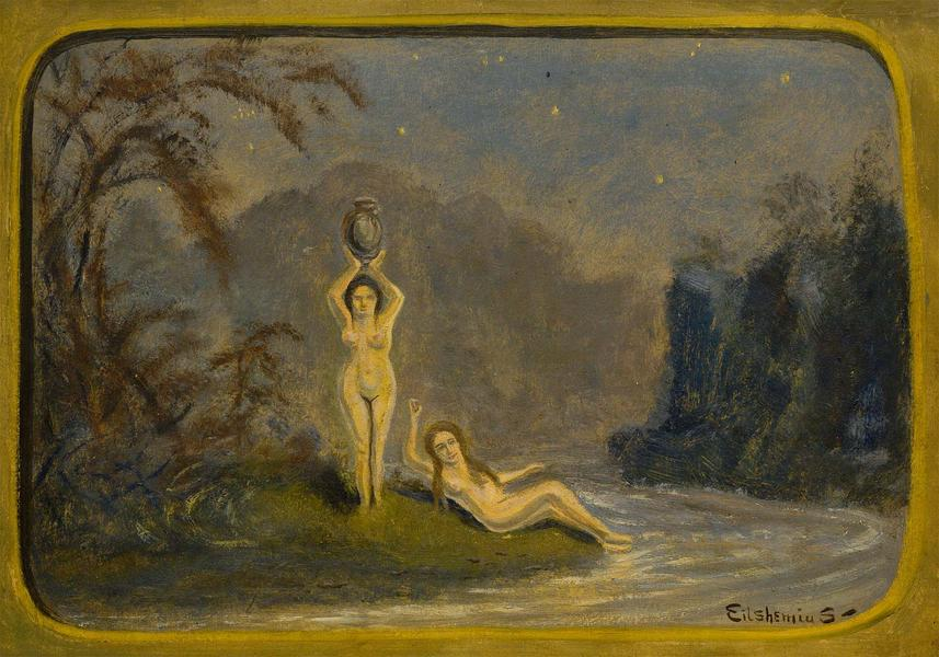 Untitled (Night Allegory), c.1915 oil on paperboar...