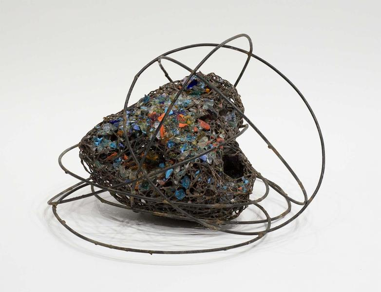 "Untitled, c.1965 steel and glass 10 1/2"" x 16..."