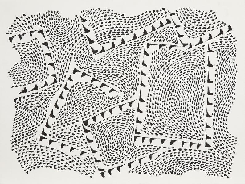 Right Angles Within a Structure, 1975 india ink on...