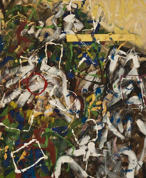 Untitled (5/85-NY), 1985 oil and oil stick on canv...