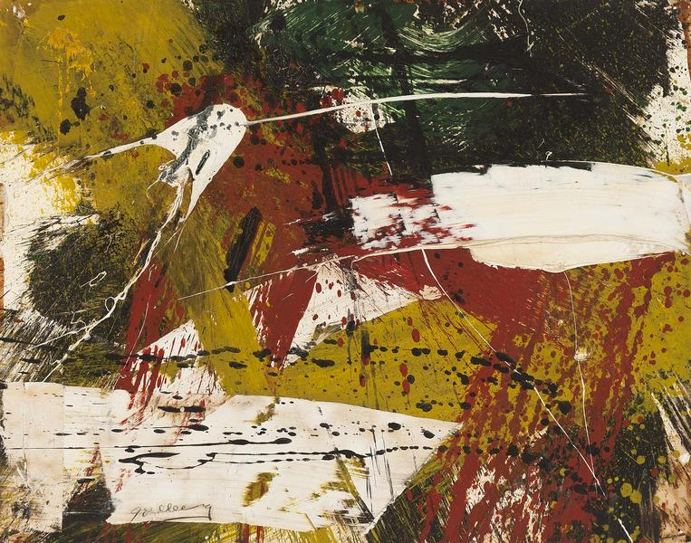 Michael Goldberg (1924-2007) Untitled, c.1959 oil...