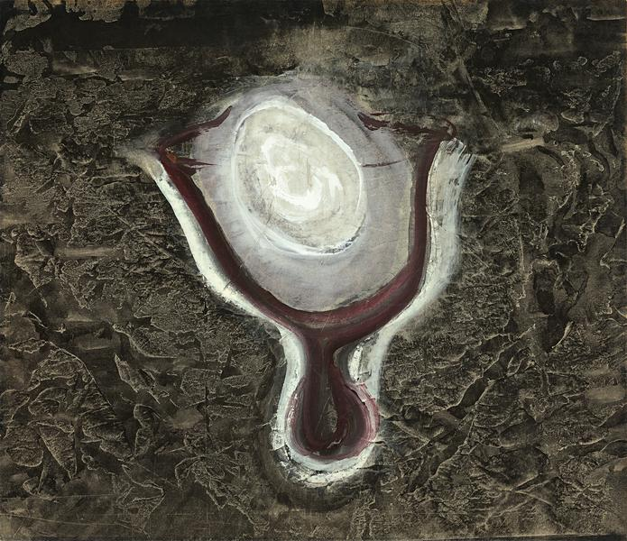 Chalice, 1942 tempera and ink on paper mounted to...
