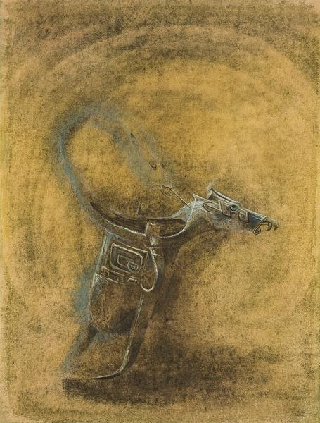 Ritual Bronze, 1947 tempera, gouache and watercolo...