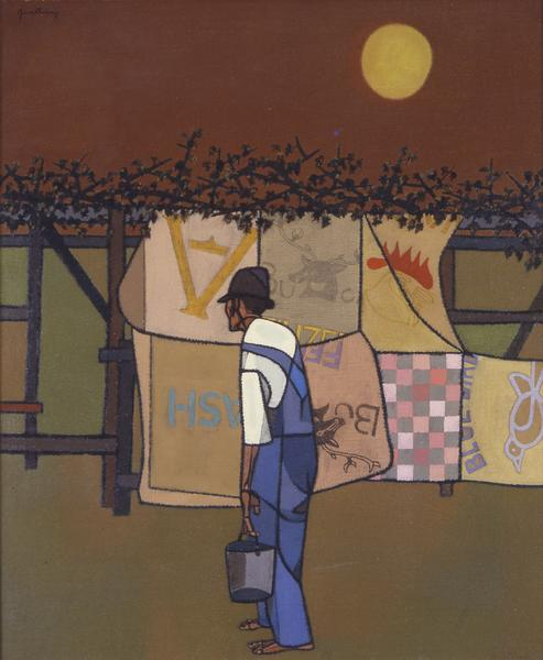 Robert Gwathmey (1903-1988) Boughs and Bags for Sh...
