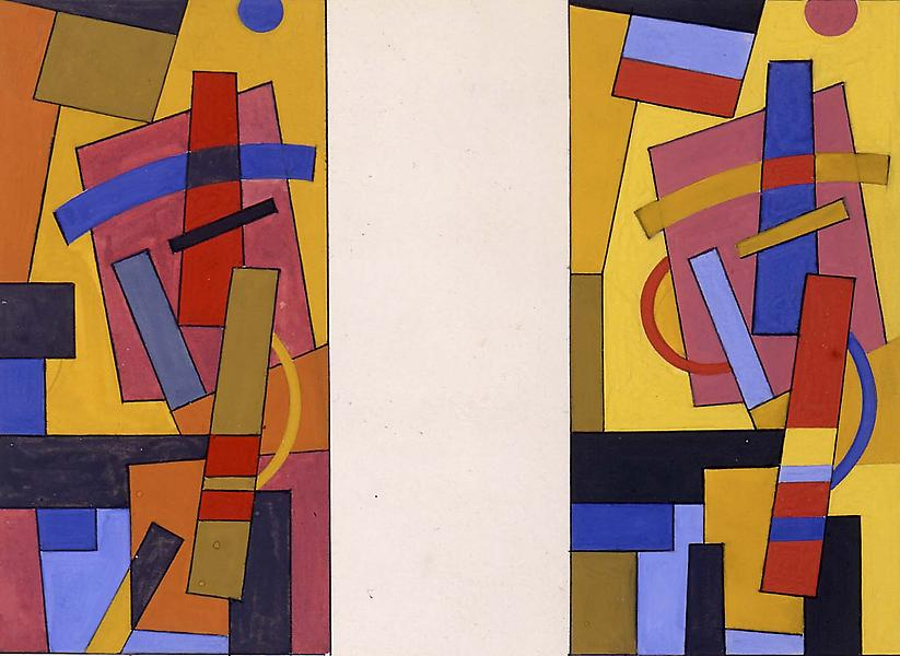 Untitled (two geometric abstractions), c.1940 goua...