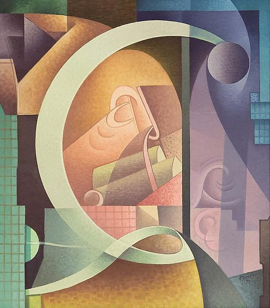 Variations on a Rhythm - C, 1931 oil on canvas 35...