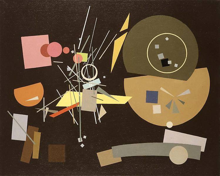 "Composition #511, 1951 oil on canvas 24"" x 30..."