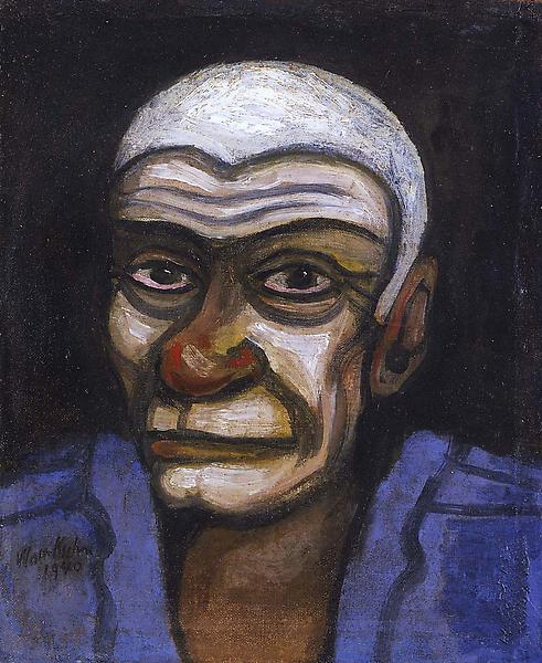 Roger, 1940 oil on canvas mounted on Masonite 12 1...