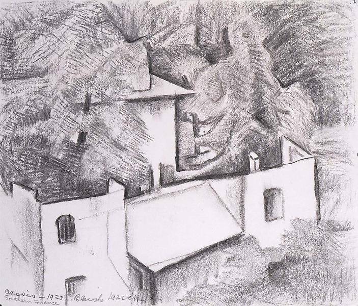 Cassis, Southern France, 1923 graphite on paper 9&...