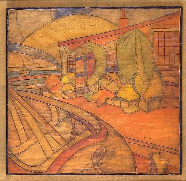 "Provincetown, 1922 original woodblock 11 3/8""..."