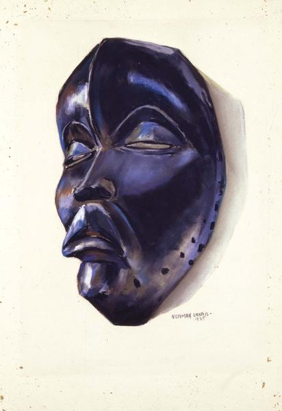 "Dan Mask, 1935 pastel on sandpaper 18 1/8"" x..."
