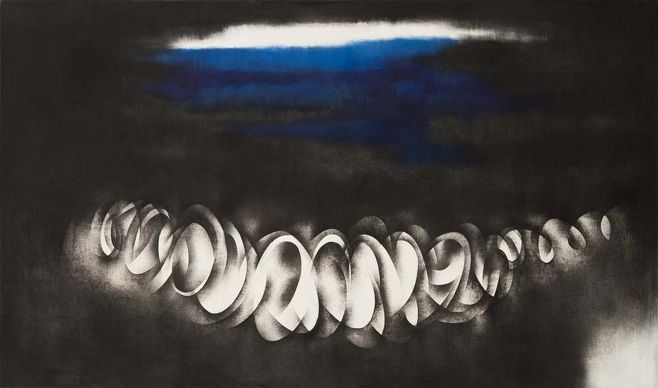 Norman Lewis (1909-1979) Ebb Tide, 1975 oil on can...