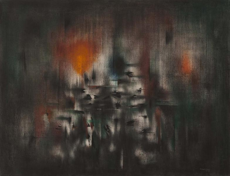Norman Lewis (1909-1979) Industrial Night, 1952 oi...