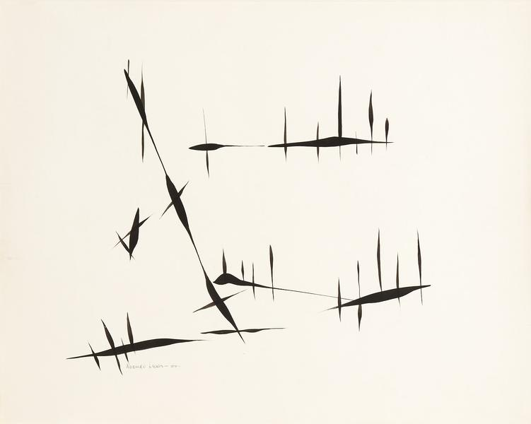 Norman Lewis (1909-1979) Untitled, 1954 ink on pap...