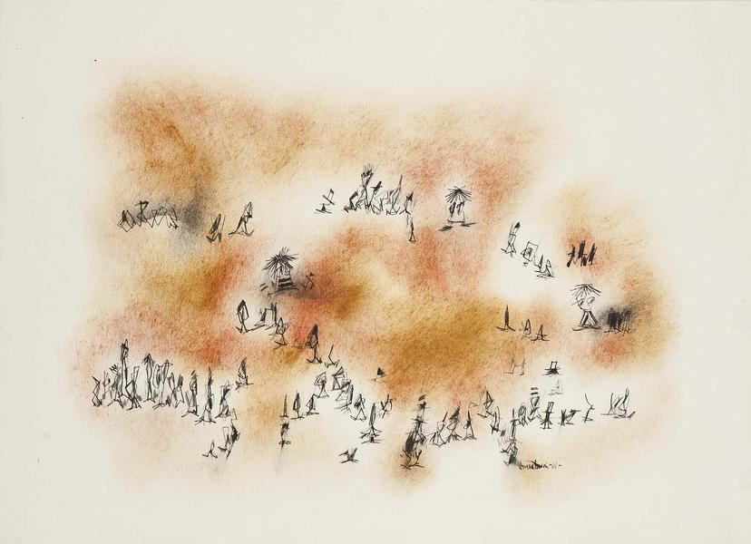 Norman Lewis (1909-1979) Untitled, 1961 oil, ink a...