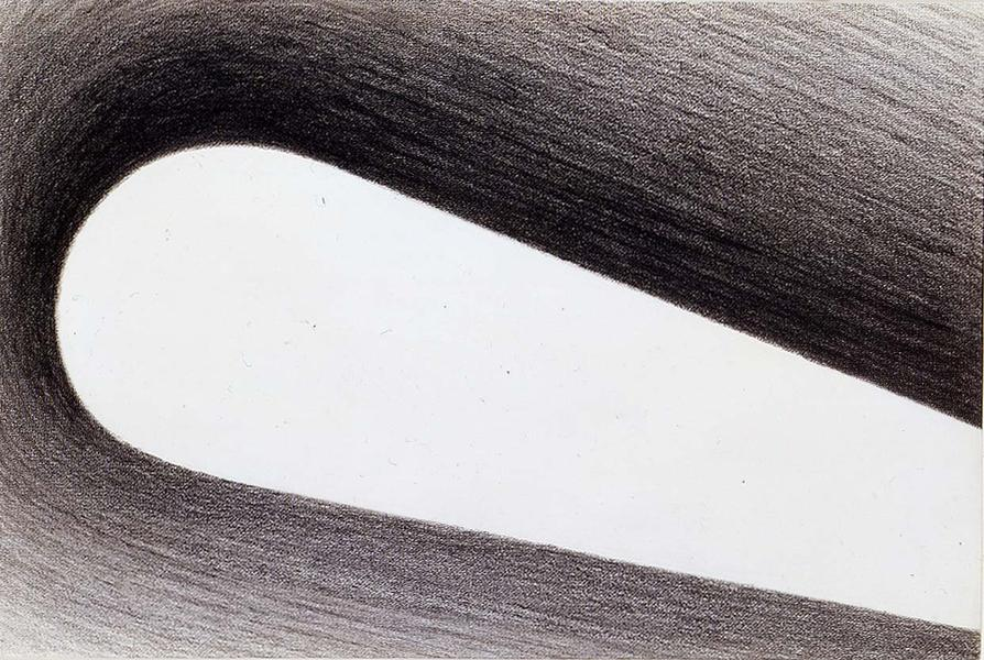 "Untitled, 1964 graphite on paper 8 1/4"" x 12..."