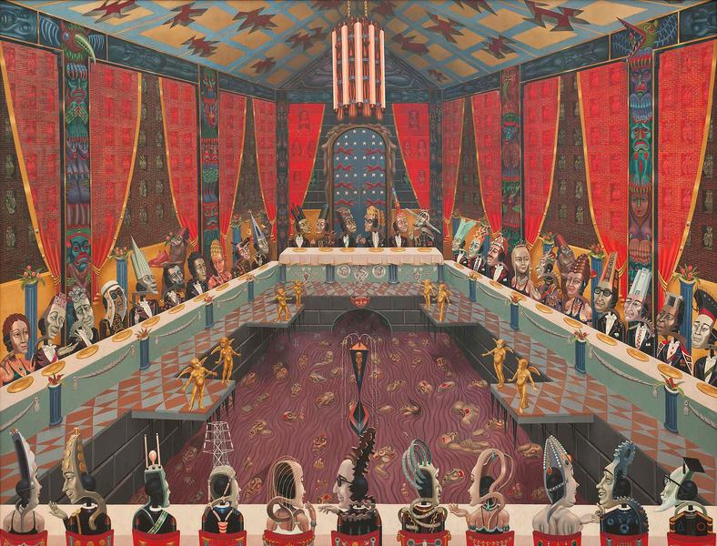 "The Banquet, 1972-1973 oil on canvas 90"" x 11..."