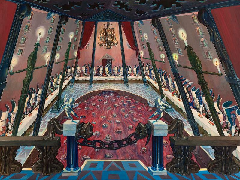 The Palace (aka The Banquet), 1948 gouache on illu...