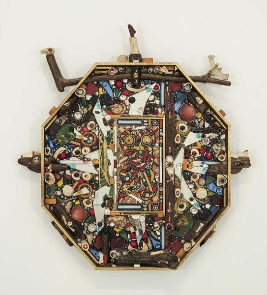 Searcher, 1963 congregation of mixed media on pane...