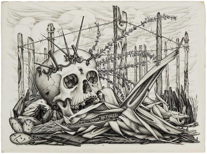 Skull and Corn (aka Death with Abundance), 1940 in...