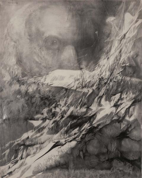 "Untitled, 1979 graphite on paper 60"" x 47 1/2..."