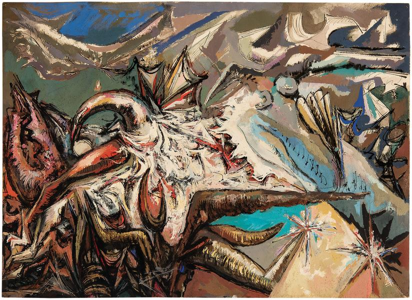 Untitled (The Furies of Folly Cove), c.1950 gouach...